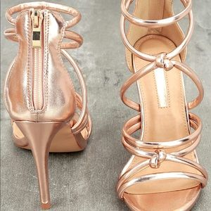 LuLu's Liliana Rose Gold Dress Sandal